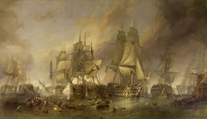 Famous paintings of Military: The Battle of Trafalgar, 1805