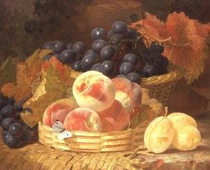 Famous paintings of Butterflies: Still Life with Fruit and a Butterfly