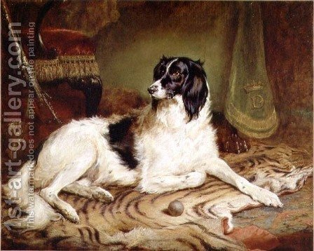 Minna, a favourite dog of James, Marquess of Dalhousie, 1857 by Gourlay Steell - Reproduction Oil Painting
