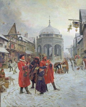 Famous paintings of Christmas: Christmas Eve, Highcross Market, Leicester