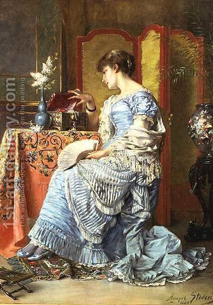 Indecision, 1884 by Agapit Stevens - Reproduction Oil Painting