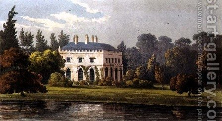 Elvills, Englefield Green, from Ackermanns Repository of Arts, 1827 by (after) Stockdale, Frederick Wilton Litchfield - Reproduction Oil Painting