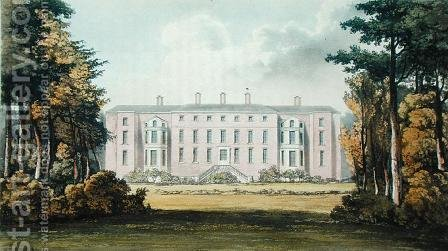Ham House, from Ackermanns Repository of Arts, published c.1826 by (after) Stockdale, Frederick Wilton Litchfield - Reproduction Oil Painting