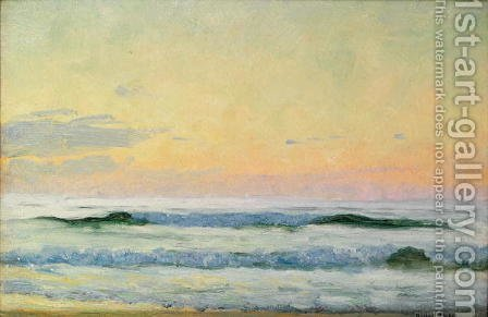 Sea Study - Evening by Adrian Scott Stokes - Reproduction Oil Painting
