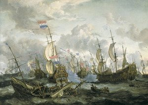 Famous paintings of Ships & Boats: The Four Days Battle, 1-4 June 1666