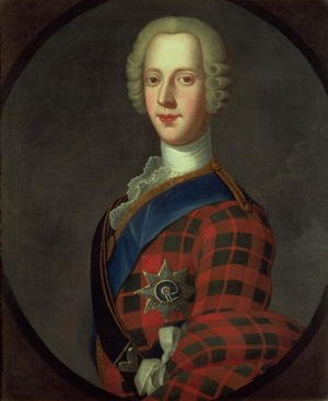 Academic Classicism painting reproductions: Prince Charles Edward Stuart Bonnie Prince Charlie, 1720-88