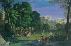 Antal Strohmayer reproductions - The Philosophers Garden, Athens, 1834