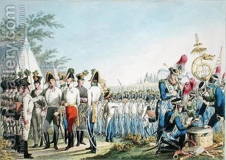 The new Imperial Royal Austrian Light Infantry after the Napoleonic Wars, c.1820 by (after) Stubenrauch, Phillip von - Reproduction Oil Painting