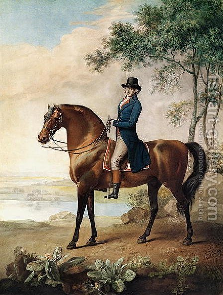 Warren Hastings Esq. on his Arabian Horse, after a painting by George Stubbs, 1796 1724-1806 by (after) Stubbs, George - Reproduction Oil Painting
