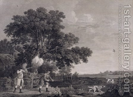Shooting, plate 3, engraved by William Woollett 1735-85 1770 by (after) Stubbs, George - Reproduction Oil Painting