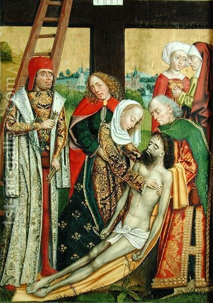 Descent from the Cross, from the Dome Altar, 1499 by Absolon Stumme - Reproduction Oil Painting
