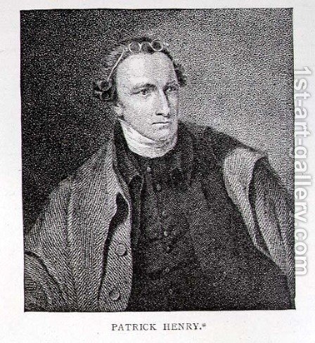 Portrait of Patrick Henry, engraved by William Satchwell Leney 1769-1821 from a print in Analectic Magazine, December 1817 by (after) Sully, Lawrence - Reproduction Oil Painting