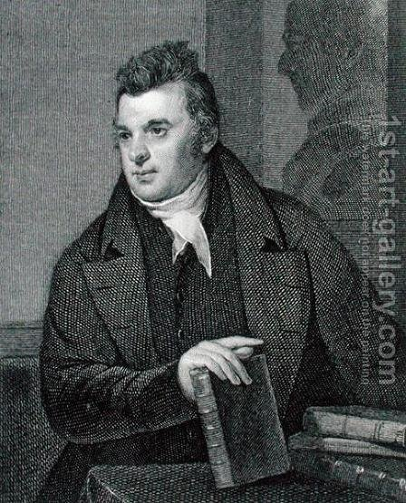 David Hosack, engraved by Asher Brown Durand 1796-1886 by (after) Sully, Thomas - Reproduction Oil Painting