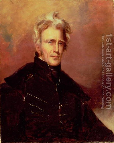 Portrait of Andrew Jackson, 1858 by (after) Sully, Thomas - Reproduction Oil Painting