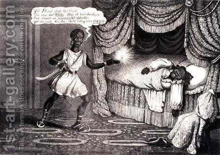 Tregears Black Jokes - Othello, engraved by Hunt, c.1834 by (after) Summers, W. - Reproduction Oil Painting
