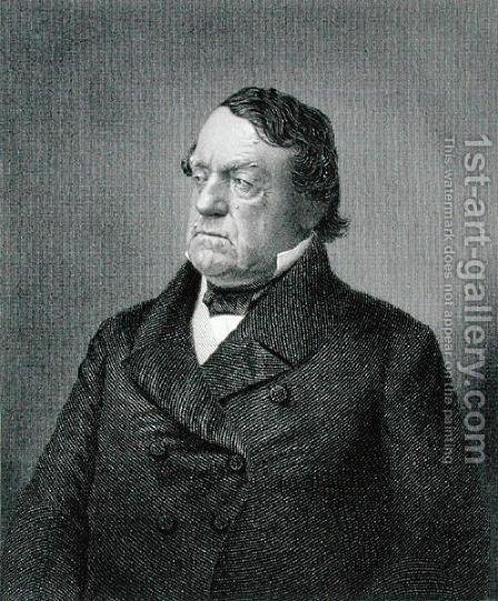 Lewis Cass, engraved by William G. Jackman fl.c.1841-60 after a photograph by (after) Sutton and Bro. - Reproduction Oil Painting