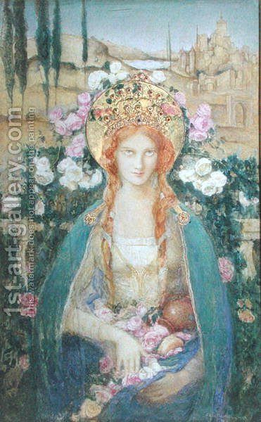 St. Elizabeth of Hungary, 1916 by Alice Macallan Swan - Reproduction Oil Painting