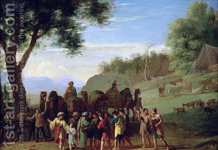 Joseph Sold by his Brothers by Herman Van Swanevelt - Reproduction Oil Painting