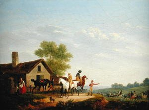 Academic Classicism painting reproductions: Horse Racing