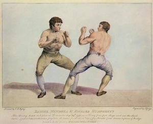 Famous paintings of Boxing: Boxing Match Between Daniel Mendoza and Richard Humphreys, 29th September 1790