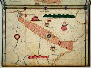 Ms Ital 550.0.3.15 fol.6r Map of Egypt, from the Carte Geografiche