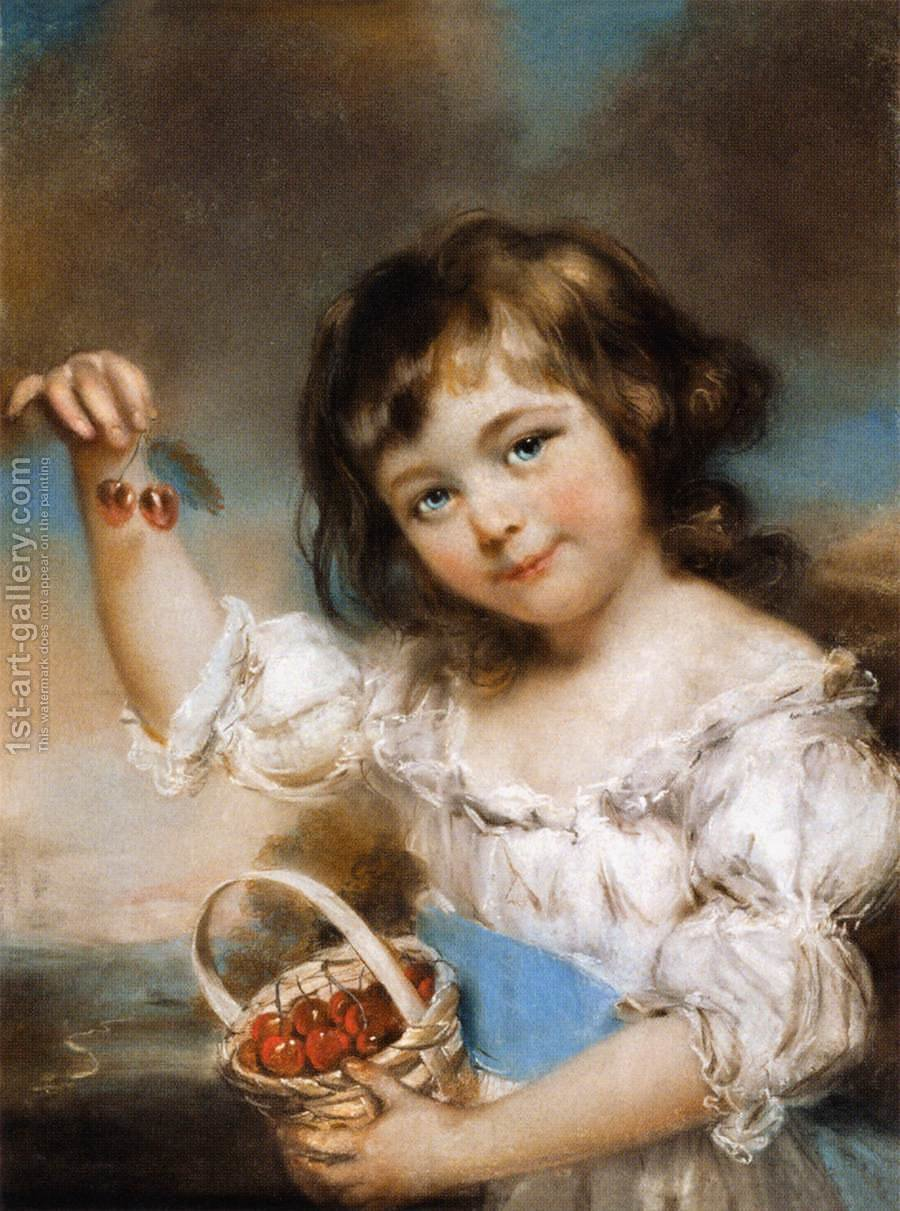 Huge version of Little Girl with Cherries