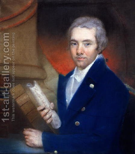Portrait of William Wilberforce 1759-1833 by William Lane 1746-1819 by (after) Russell, John - Reproduction Oil Painting