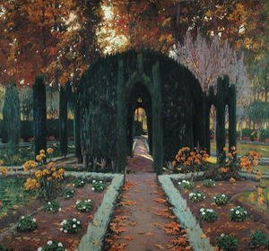 Reproduction oil paintings - Santiago Rusinol i Prats - La Glorieta Aranjuez 1909