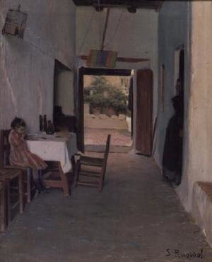 Reproduction oil paintings - Santiago Rusinol i Prats - The Courtyard at Sitges 2