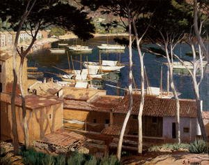 Reproduction oil paintings - Santiago Rusinol i Prats - Port de Soller, 1900s