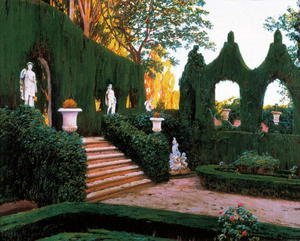 Reproduction oil paintings - Santiago Rusinol i Prats - Neoclassical Garden, 1890s