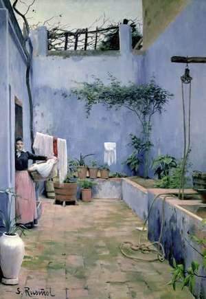 Reproduction oil paintings - Santiago Rusinol i Prats - Patio Interior 2