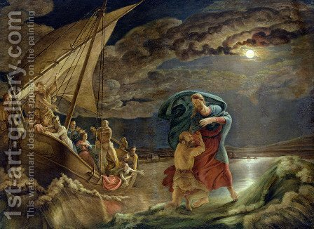 Peter Walks on Water, 1806 by Philipp Otto Runge - Reproduction Oil Painting