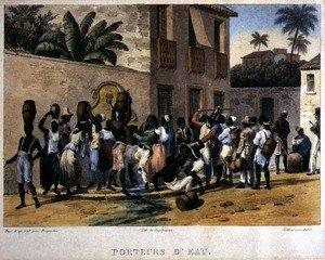 Famous paintings of Black Art: Water Carriers, engraved by Deroi, pub. by Engelmann and Company, Paris, 1835