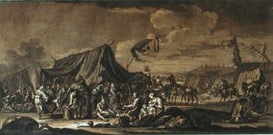 Famous paintings of Tent: Army Encampment, 1694