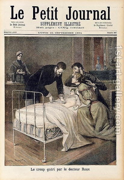 The Croup Cured by Doctor Roux, illustration from Le Petit Journal, 24th September 1894 by (after) Royer, Lionel - Reproduction Oil Painting