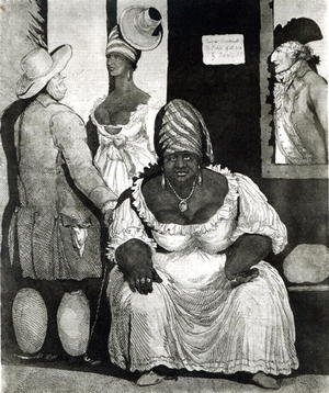 Academic Classicism painting reproductions: Rachel Pringle of Barbados, Proprietress of a Bridgetown Brothel
