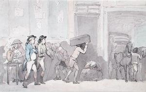 Reproduction oil paintings - Thomas Rowlandson - Rowlandson and Wigstead 1745-93 Arriving at an Inn