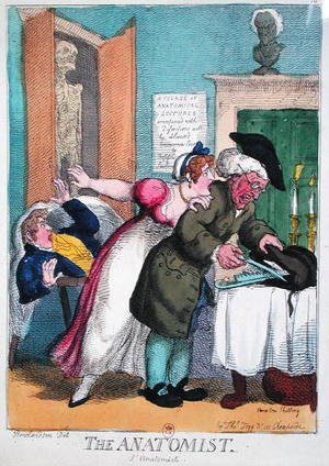 Reproduction oil paintings - Thomas Rowlandson - The Anatomist, published by Thomas Tegg, 1811