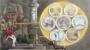 Reproduction oil paintings - Thomas Rowlandson - Hindoo Incantations, A View in Elephanta, from The Grand Master, or Adventures of Qui Hi? in Hindostan. A Hudibras Poem in Eight Cantos by Quiz, by William Combe 1741-1823 published by Thomas Tegg, London, 1815