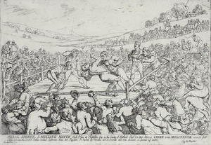 Famous paintings of Boxing: Rural Sports - A Milling Match, 28th September, 1811