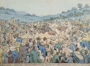 Famous paintings of Boxing: The Last Milling Match between Cribb and Molineaux, September 28th 1811