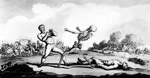 Famous paintings of Boxing: How vain are all your triumphs past, 1814