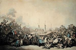 Famous paintings of Boxing: The Prize Fight, 1787