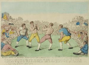 Famous paintings of Boxing: Boxing Match for 200 Guineas between Dutch Sam and Medley