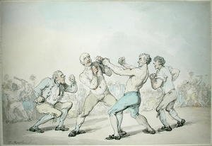 Famous paintings of Boxing: A Boxing Match