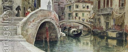 Venice, 1887 by Alexandre Nicolaievitch Roussoff - Reproduction Oil Painting