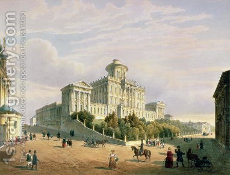 The Pashkov House The Institute of Nobility, 1830s by (after) Roussel, Paul Marie - Reproduction Oil Painting