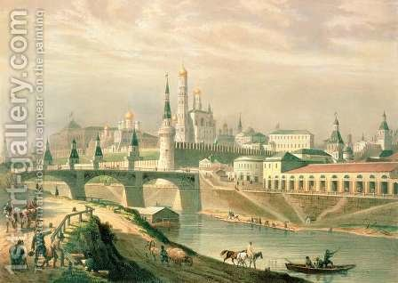 View of the Moscow Kremlin, 1830 by (after) Roussel, Paul Marie - Reproduction Oil Painting