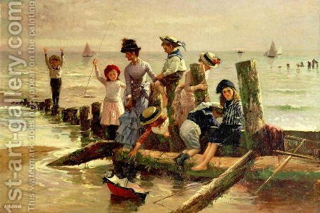 At the Seaside 2 by Alexander M. Rossi - Reproduction Oil Painting